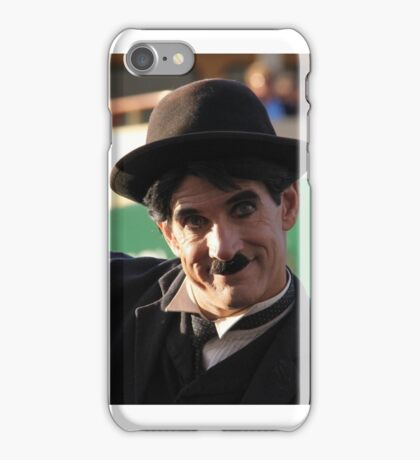 Charlie Chaplin? In front of Sydney ferry and Sydney Harbour Bridge iPhone Case/Skin