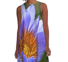 Purple Water Lily A-Line Dress