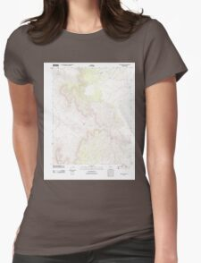 USGS TOPO Map Arizona AZ Mustang Point 20111028 TM Womens Fitted T-Shirt