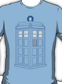 Vanishing TARDIS Outline T-Shirt