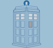 Vanishing TARDIS Outline Unisex T-Shirt