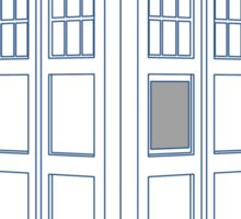Vanishing TARDIS Outline Sticker