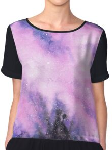 Watercolor Nebula III Chiffon Top