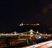 Budapest Night Lights Sticker