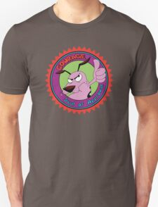 Courage The Cowardly Dog Seal of Approval Unisex T-Shirt