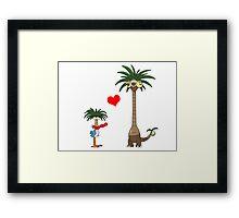 Tropical Love Framed Print