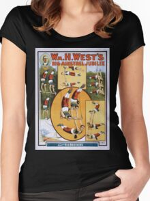 Performing Arts Posters Wm H Wests Big Minstrel Jubilee 2013 Women's Fitted Scoop T-Shirt