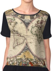 Map of the World (1672) Chiffon Top
