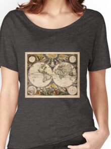 Map of the World (1672) Women's Relaxed Fit T-Shirt