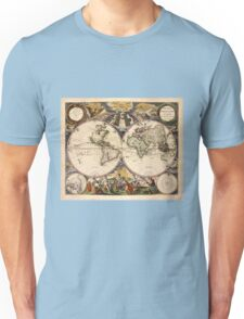 Map of the World (1672) Unisex T-Shirt