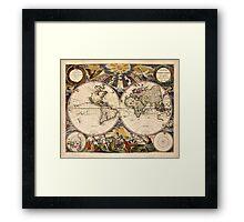 Map of the World (1672) Framed Print