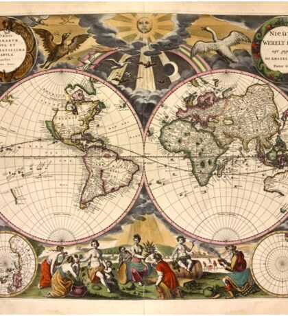 Map of the World (1672) Sticker