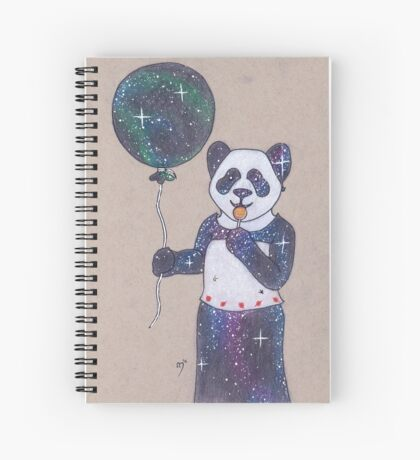 Space is a Panda Spiral Notebook