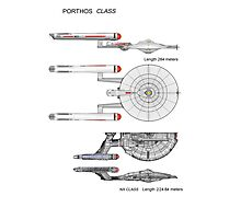 U S S Porthos  Research Class Cruiser Photographic Print