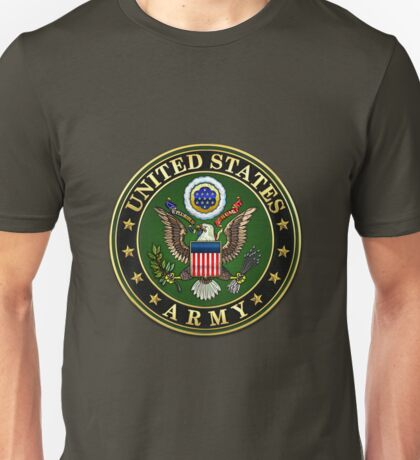 U.S. Army Emblem 3D on Red Velvet Unisex T-Shirt