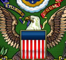 U.S. Army Emblem 3D on Red Velvet Sticker