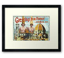Hi from Florence Framed Print