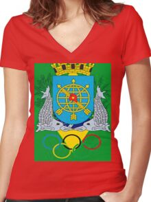 juegos Olimpicos Women's Fitted V-Neck T-Shirt