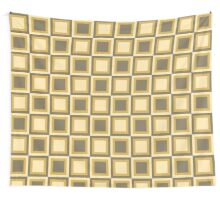 Squares for Fall - Tan Wall Tapestry