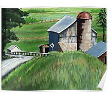 Southern Ohio Countryside landscape painting Poster