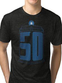 50th Anniversary TARDIS Tri-blend T-Shirt