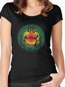 Rasta Buddha Women's Fitted Scoop T-Shirt