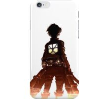 Eren Through the Flames nobg iPhone Case/Skin