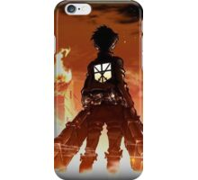 Eren Through the Flames iPhone Case/Skin