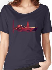 Red Spaceship #01 - Polyart Women's Relaxed Fit T-Shirt