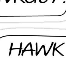 Hawkguy Sticker