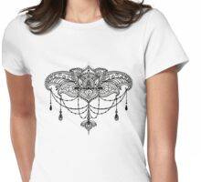 Henna Chandelier in Black Womens Fitted T-Shirt