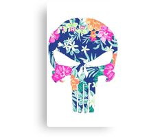 punisher floral Canvas Print