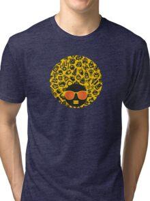Yellow, robots Tri-blend T-Shirt