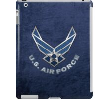 U.S. Air Force - USAF Logo 3D on Blue Velvet iPad Case/Skin