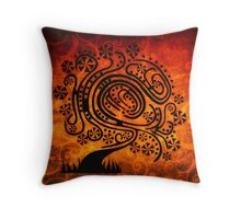 Psychedelic Tree of Life Throw Pillow