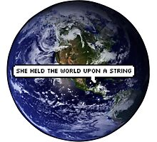 SHE HELD THE WORLD UPON A STRING TUMBLR Photographic Print