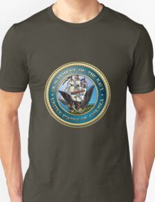 U.S. Navy - USN Emblem 3D on Red Velvet T-Shirt