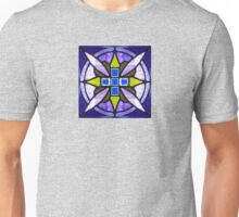 Cobalt Blue Stained Glass Unisex T-Shirt