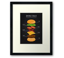 Homemade Burger Framed Print
