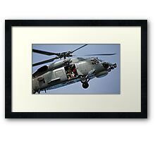 Seahawk Ready to Rescue Framed Print
