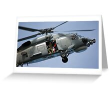 Seahawk Ready to Rescue Greeting Card