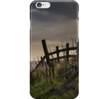A fence at Mam Tor, in Peak District, England iPhone Case/Skin