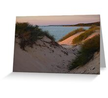Monkey Mia Sunrise over the Sand Dunes  Greeting Card