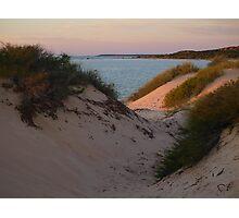 Monkey Mia Sunrise over the Sand Dunes  Photographic Print