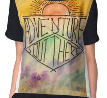 watercolour adventure is out there Chiffon Top