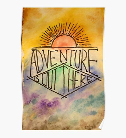 watercolour adventure is out there Poster