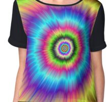 Color Explosion Tie-Dyed Chiffon Top