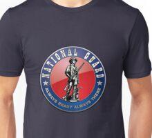 US National Guard (NG) Emblem 3D on Blue Velvet Unisex T-Shirt