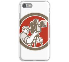 Cameraman Vintage Movie Camera Retro iPhone Case/Skin