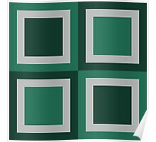 Squares for Fall - Green Poster